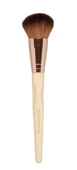 Brocha ecológica multiusos, perfecta para maquillaje líquido o en polvo.